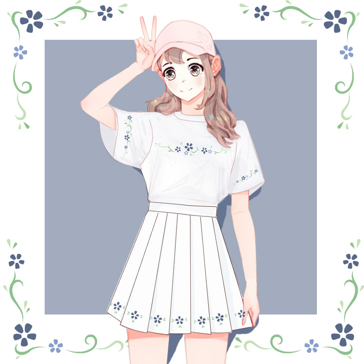 Kawaii Flower Anime T-Shirt