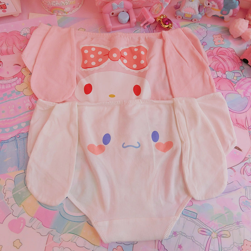 Melody Bow Sweet Doggie Kawaii Cute Panty