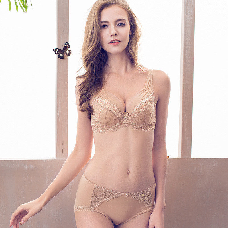 Come To See Me Underwire Lace 3/4 Cup Bra - sofyee