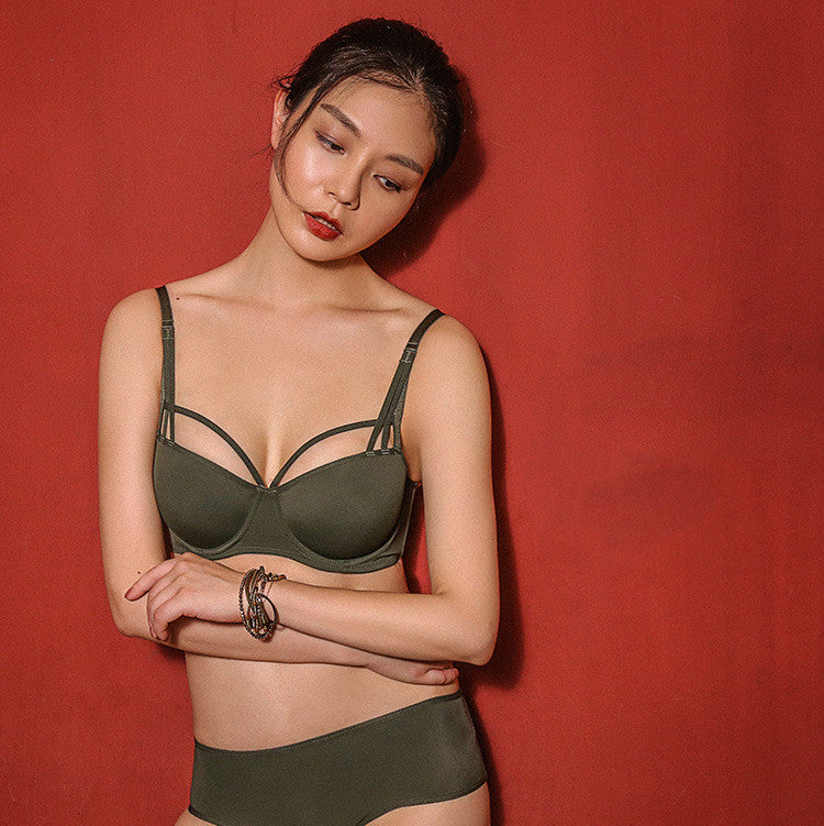 Green Glamourous  Strappy Bacolny Bra - sofyee