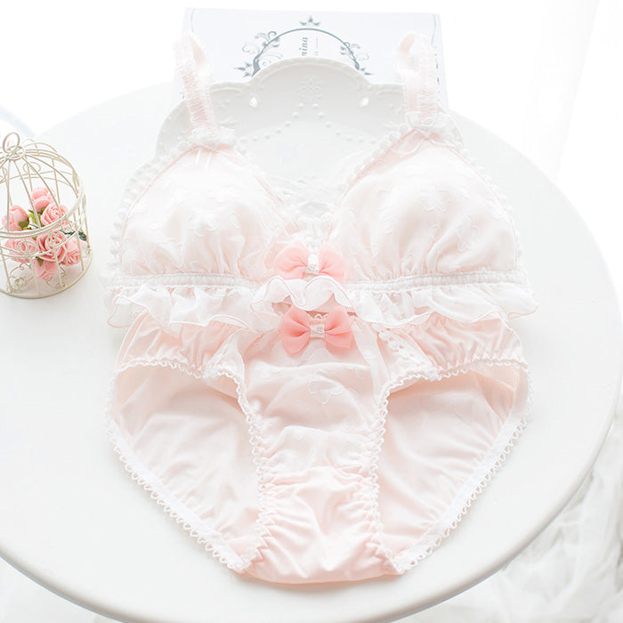 Kawaii Comfy Staring Flower Cute Sweetie Baby Bralette Set