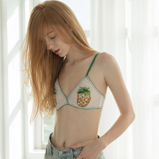 A Road To Lover Cute Sweetie Baby Pineapple Bralette Set