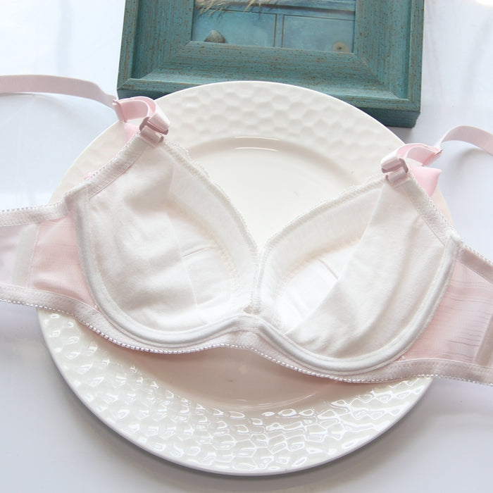 Sweetie Honey Bow Pink Kawaii Candy Color Bra Set