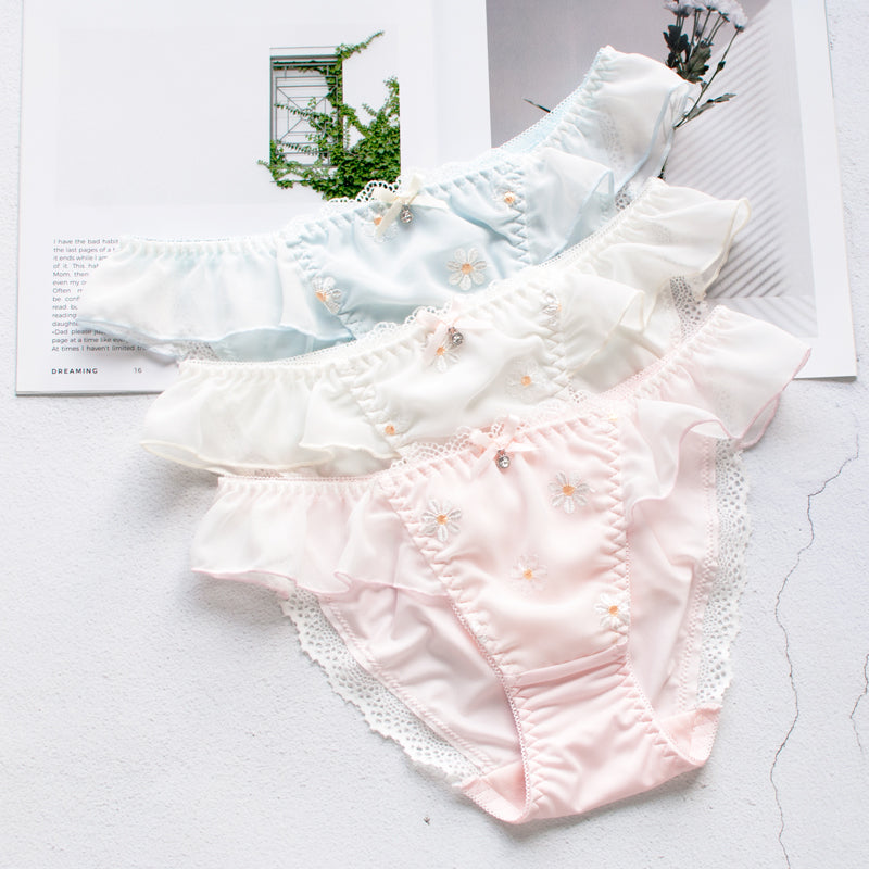 Ruffle Frilly Lace Flower Sweetie Kawaii Candy Color Panty