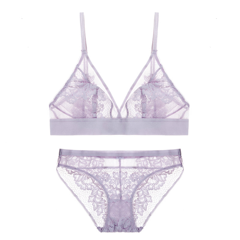 Sheer Mesh Lace Bra & Panty Sets