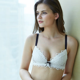 Everything About Flirting Lace Wirefree Triangle Bra - sofyee