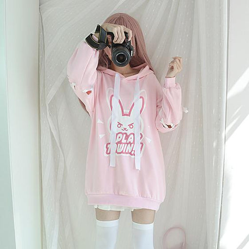 D.VA Overwatch Game Play For Fun Hoodie