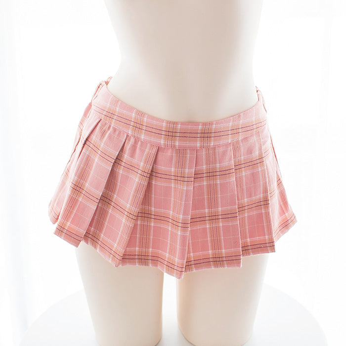 Pink Sexy Amine Sailor Bow Japanese School Girl Kawaii Outfit Skirt