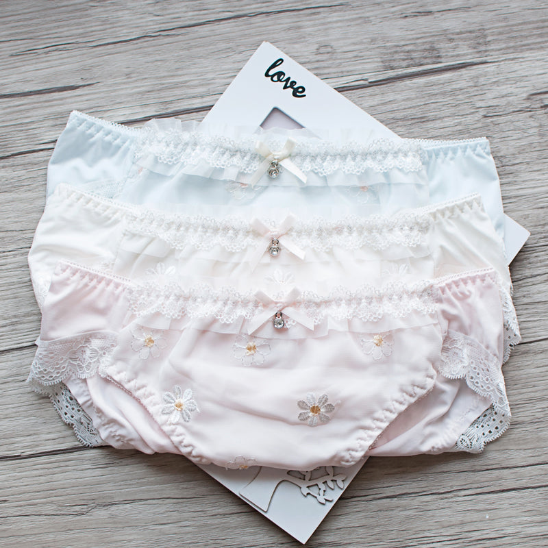 Lace Flower Sweetie Kawaii Candy Color Panty