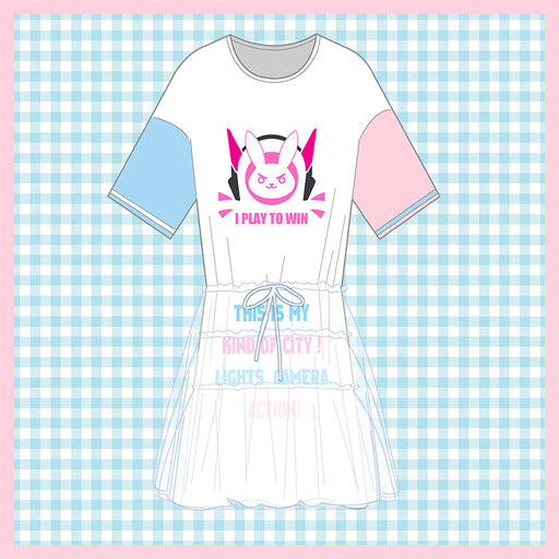 Game OW DVA HANA SONG Cosplay Costume Casual Wear T-shirt