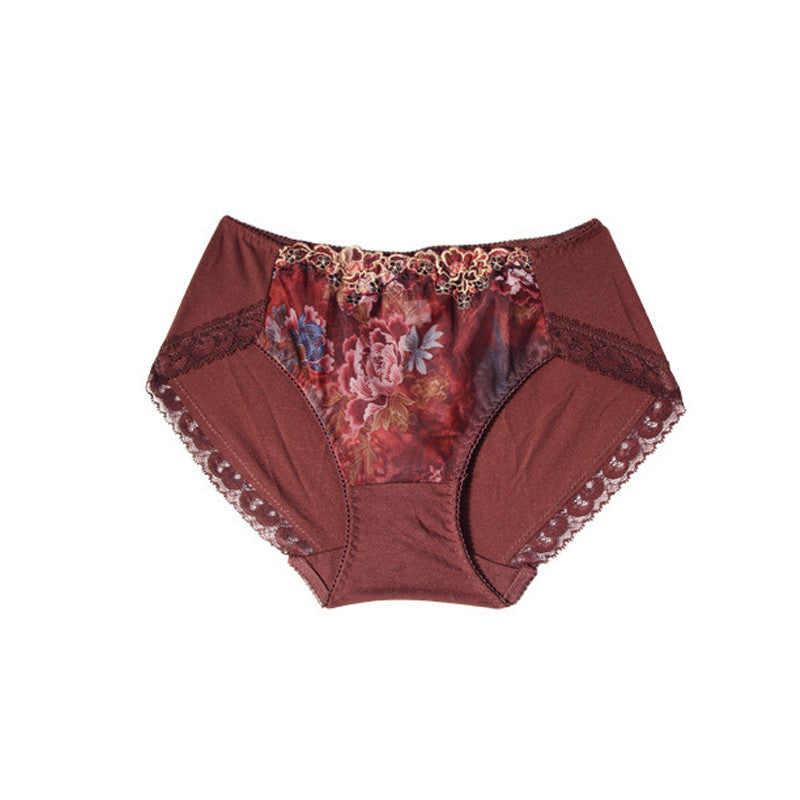 Flower Embroidered Modern Panty - sofyee