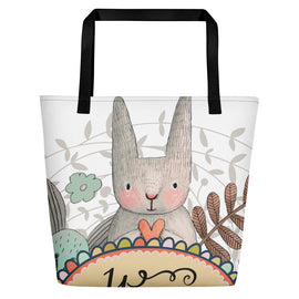 Happy Cat Beach Bag