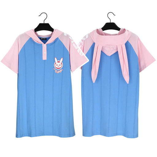 Game OW DVA HANA SONG Cosplay Costume Casual Wear Costume T-shirt