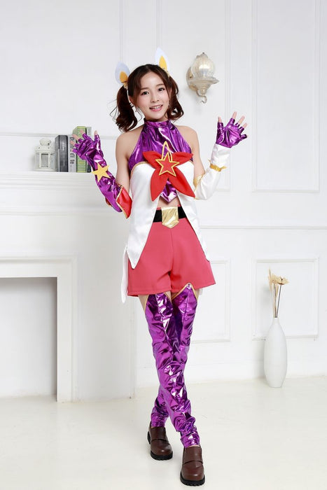 Anime Costume Game  LOL Jinx Cosplay Fancy Cosplay Dress