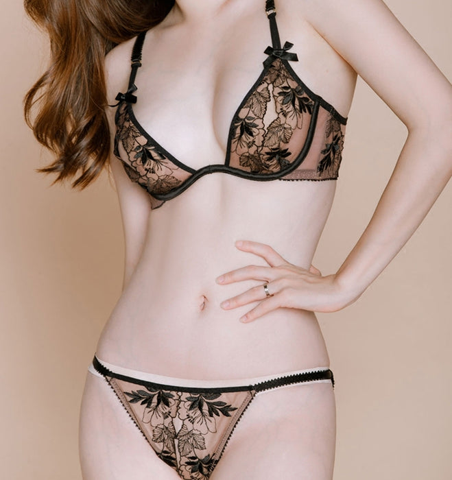 Ultra-thin Lacy Floral Bra Sets