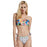 Color Boom  Cross Bandage  Bikini Set Beach Bathing Suit