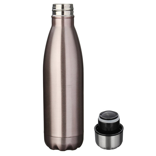 Cycling Camping Bicycle Sports Outdoor Stainless Steel Water Bottle