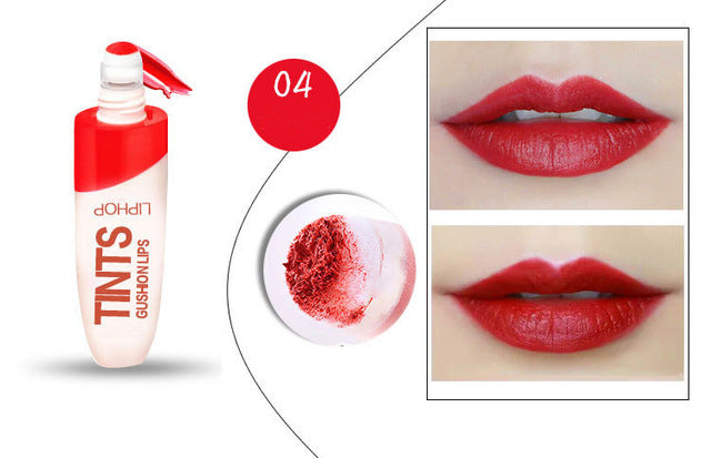 LIPHOP spongy Air Cushion Moisturizer Waterproof Liquid lipstick lip gloss tint