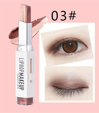 liphop gradient double colors eyeshadow stick 3D shimmer
