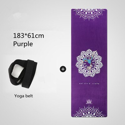 Goddess Series Yoga Mat Natural Rubber Suede Travel Mat 183*61cm*3.5mm Anti Slip Foldable Yoga Pilates Pad Exercise Mats Cover