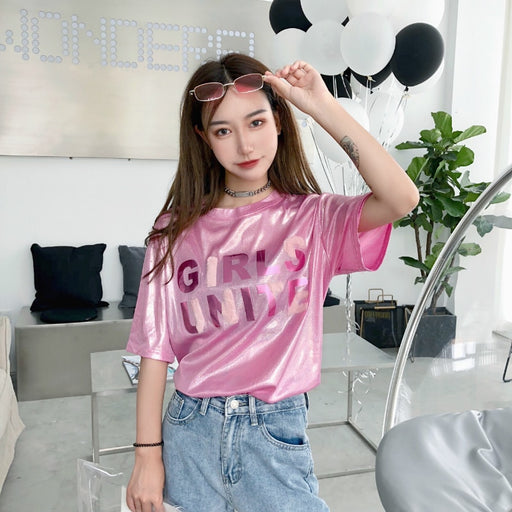 Kawaii Ulzzang Summer Korean Harajuku Aesthetic Letter Printed T-Shirt