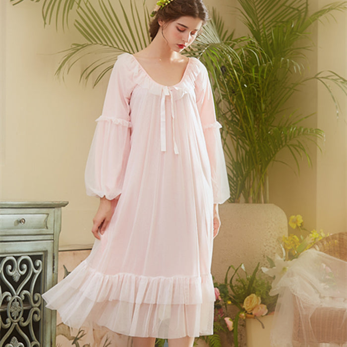 Your Princess White Pink Elegant Vintage Nightgowns