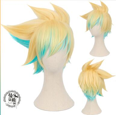 LOL Jinx Cosplay Wigs Women Blue Double Ponytail Braids Girls Long Hair 120cm For Halloween Party