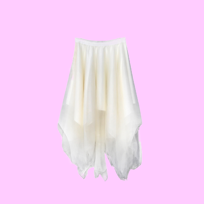 Dark wind irregular fluffy super fairy skirt