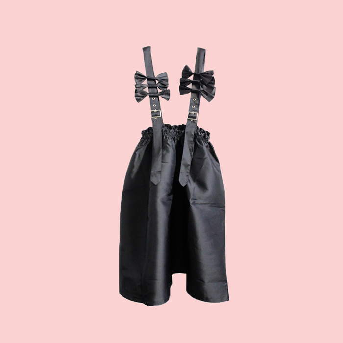 Bow fluffy suspender skirt