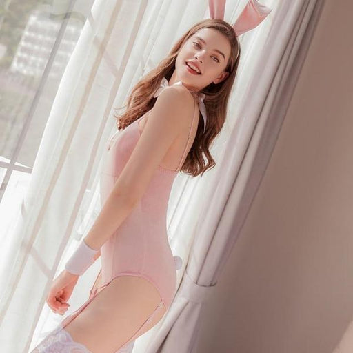 Pink Bunny Girl Costume Lingerie