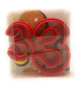 Three Digit Shaped Cookie Cutter Set of 2