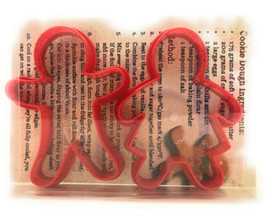 Mr & Mrs Gingerbread Man & Woman Cookie Cutter Set of 2