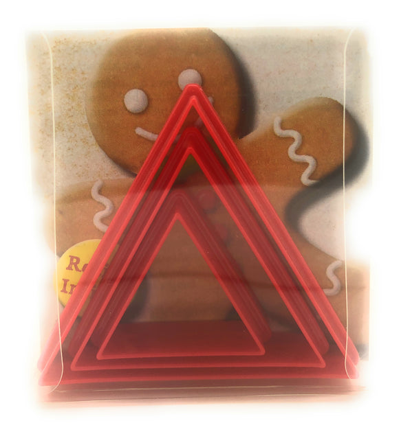 Triangle Cookie cutter set of 3
