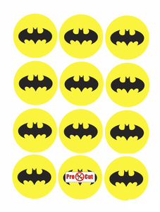 35 x Batman Cupcake Topper
