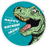 7.5 Dinosaur Roar Personalised Edible Icing Birthday Cake Topper