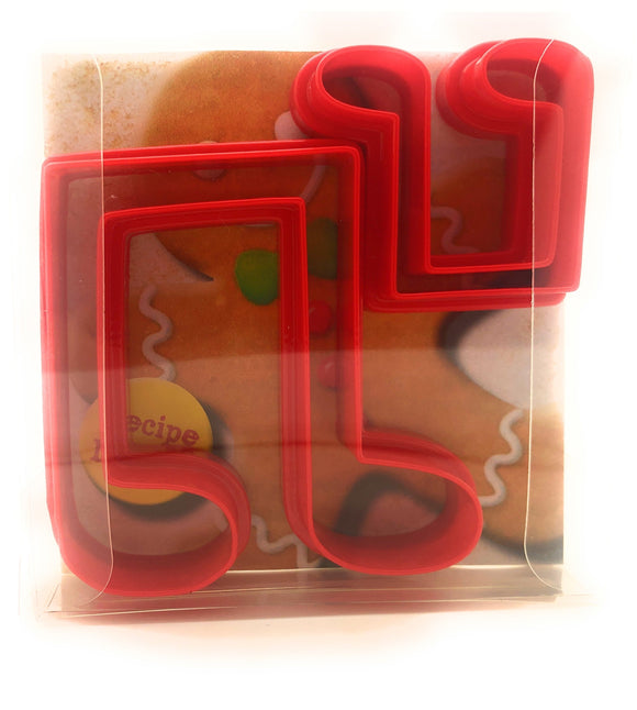 Double Music Notes Cookie Cutter Set of 2
