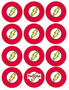 35 x The Flash Cupcake Toppers
