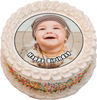 7.5 inch Personalised Photo/Your Logo Cake Topper Edible Wafer Paper