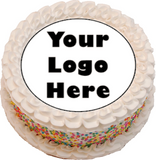 7.5 inch Personalised Photo/Your Logo Edible Cake Topper