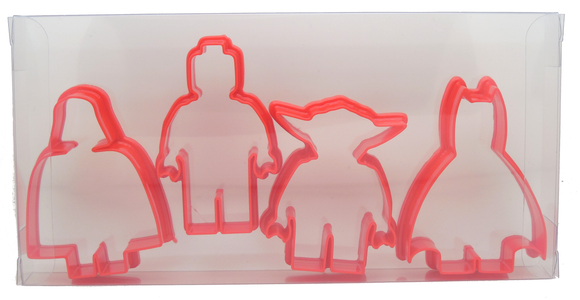Mini Figures Cookie Cutter Set Of 4
