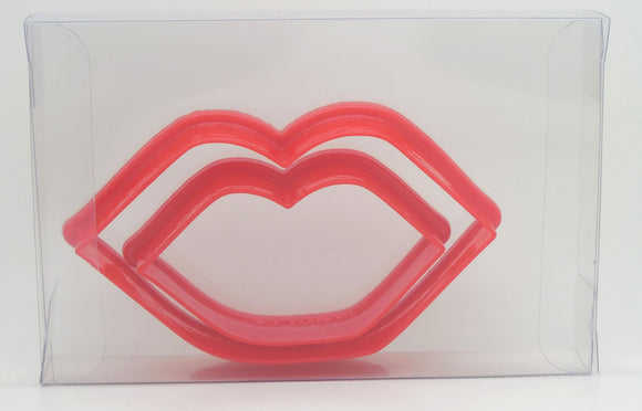 Kissing Lips Cookie Cutter Set of 2