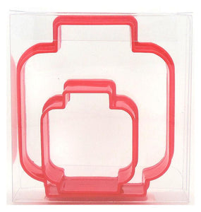 Lego Head Cookie Cutter Set of 2
