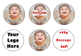 35 x Pre Cut Personalised Photo/Your Logo Cupcake Toppers Edible Wafer Paper