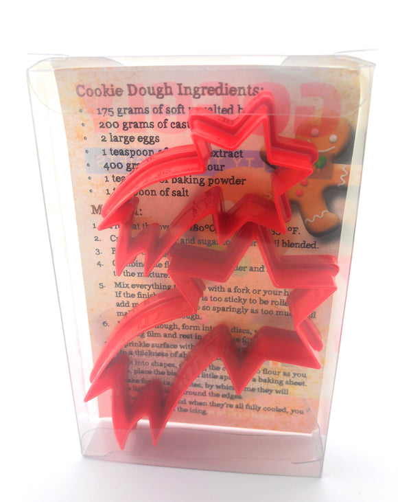Shooting Star Cookie Cutter Set of 2