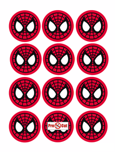 35 x Spiderman Cupcake Topper
