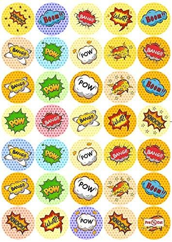 35 x Super Hero Sounds Cupcake Topper