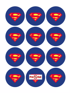 35 x Superman Cupcake Topper