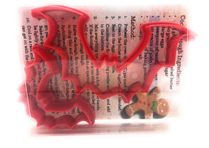 Vampire Bat Cookie Cutter Set of 2