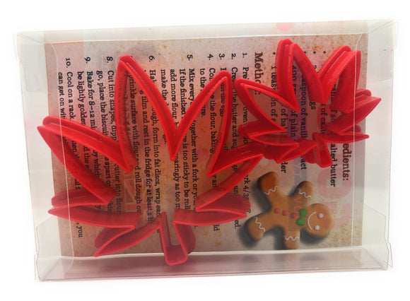 Weed Leaf Cookie Cutter Set of 2