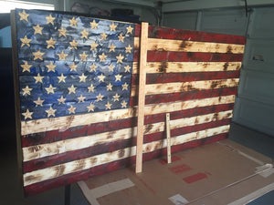 c86ee5328cf0 XXL Hand Carved Wooden Flag Concealment Cabinet 60x30x5 – Rough Cutt ...